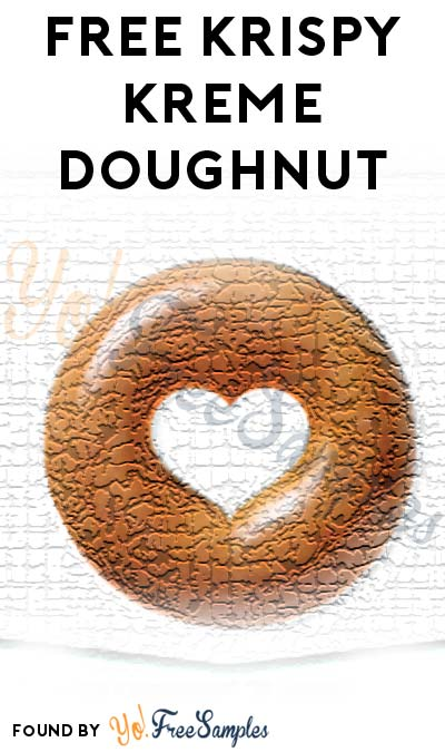FREE Krispy Kreme Original Glazed Doughnut For Downloading Mobile App
