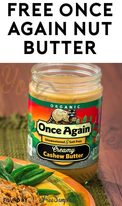 FREE Once Again Nut Butter (Mom Ambassador Membership Required)