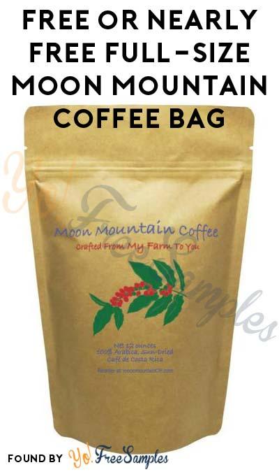 Nearly FREE Full-Size Moon Mountain Coffee Bag ($3-4~ Shipping)