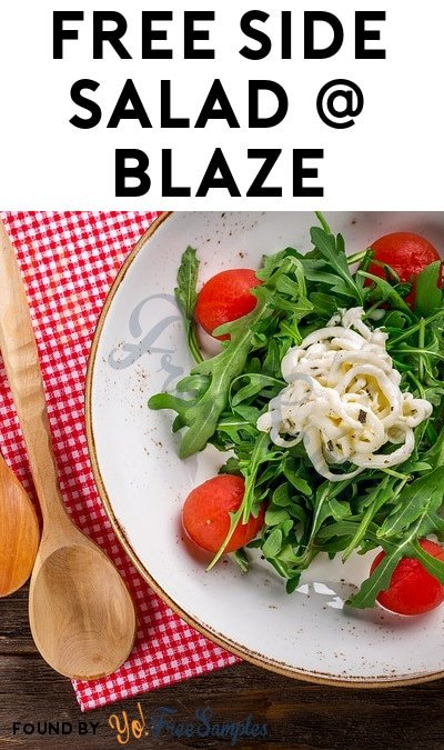 FREE Side Salad From Blaze Pizza For Downloading App