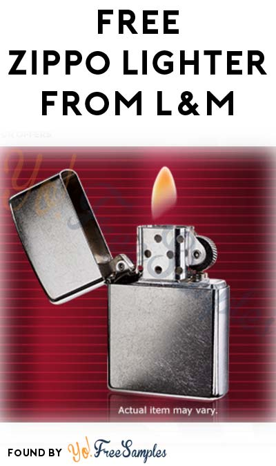 FREE Zippo Lighter From L&M (21+ Only)