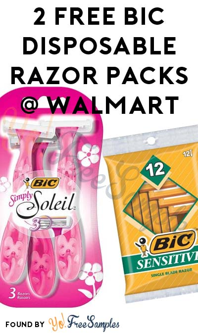 2 FREE BIC Disposable Razor Packs At Walmart (Coupon Required)