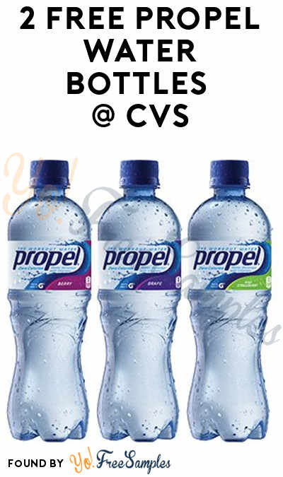 2 FREE Propel Water Bottles At CVS (ExtraCare Card Required)