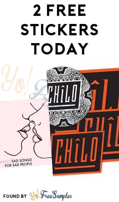 2 FREE Stickers Today: Seth Malvin Bumper Sticker & Chilo Sticker Pack