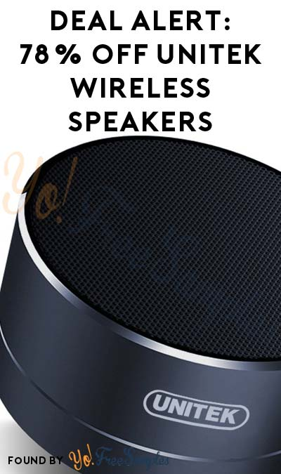 DEAL ALERT: 78% OFF Unitek Wireless Bluetooth Speakers With Mic On Amazon