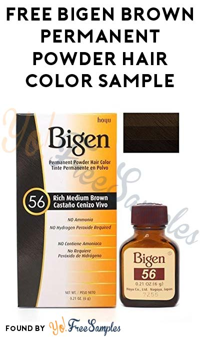 Working Again: FREE Bigen Oriental Black or Chestnut Brown Permanent Powder Hair Color Sample [Verified Received By Mail]