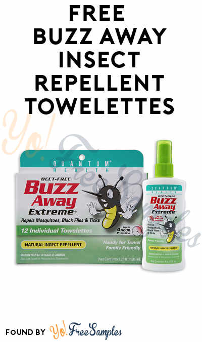 FREE Buzz Away Extreme Natural Insect Repellent Towelettes (Mom Ambassador Membership Required)