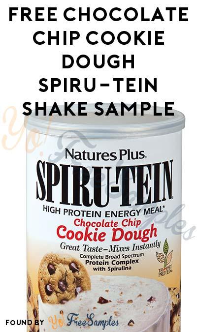 FREE Chocolate Chip Cookie Dough SPIRU-TEIN Shake Sample
