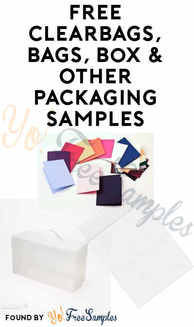 FREE ClearBags, Bags, Box & Other Packaging Samples (Company Name Required)