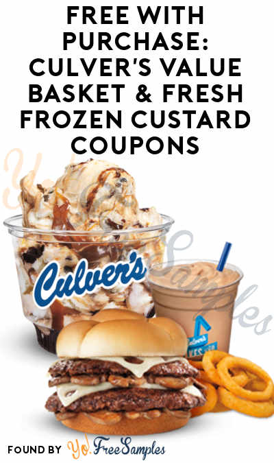 FREE Culver's Value Basket & Fresh Frozen Custard With Purchase For Joining E-Club & Text Club