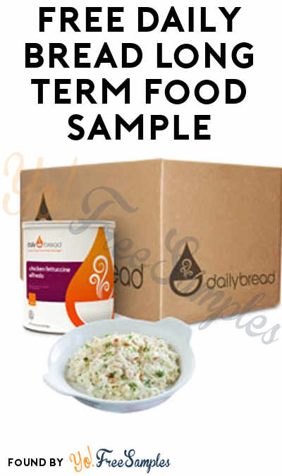 FREE Daily Bread Long Term Food Sample