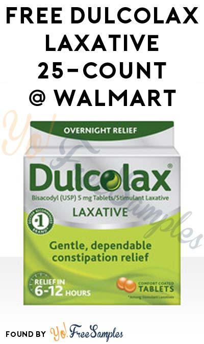 FREE Dulcolax Laxative Tablets 25-Count At Walmart