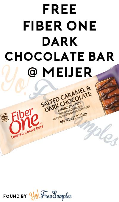 FREE Fiber One Dark Chocolate Almond or Salted Caramel Dark Chocolate (Select Meijer mPerks Users)