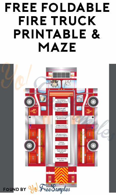 FREE Foldable Fire Truck Printable & Maze