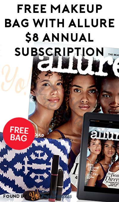 FREE Makeup Bag With Allure $8 Annual Subscription (Credit Card Required)
