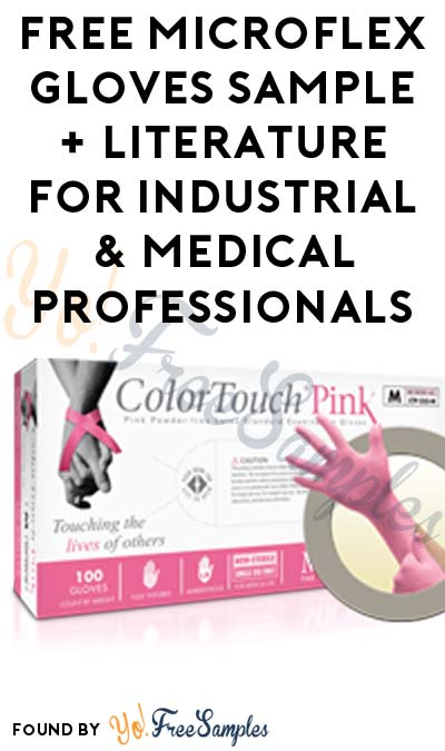 FREE Microflex Gloves Sample + Literature For Industrial & Medical Professionals (Company Name Required)