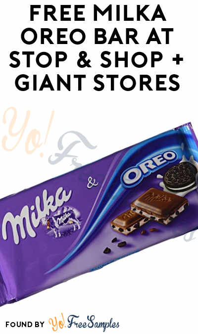 FREE Milka Oreo Bar At Stop & Shop + Giant Stores (Account Required)