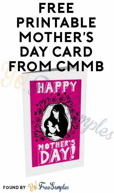 FREE Printable Mother's Day Card From CMMB