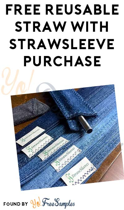 FREE Reusable Straw With StrawSleeve Purchase