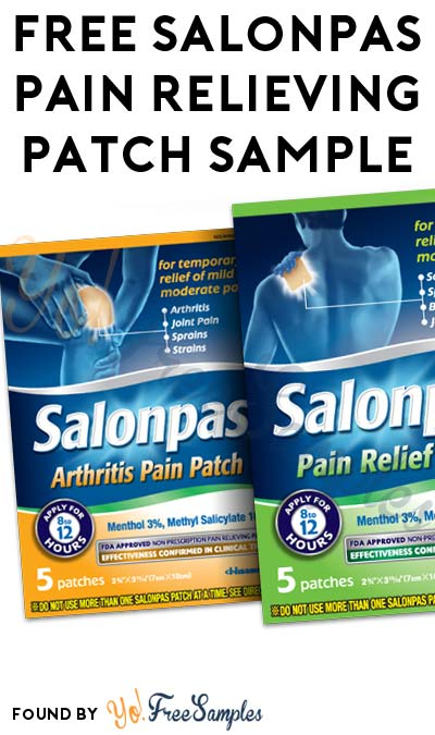 FREE Salonpas Pain Relieving Patch 2-Count Sample From SmartSource (Short Survey Required)