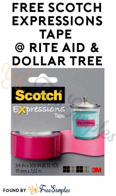 FREE Scotch Expressions Tape At Rite Aid & Dollar Tree