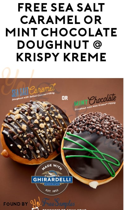 TODAY (4/3) ONLY: FREE Sea Salt Caramel or Mint Chocolate Doughnut At Krispy Kreme (Mobile App Required)
