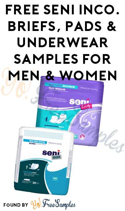 FREE Seni Inco. Briefs, Pads & Underwear Samples For Men & Women