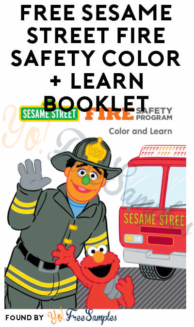 FREE Sesame Street Fire Safety Color + Learn Booklet