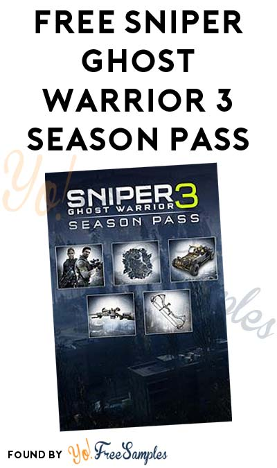 FREE Sniper Ghost Warrior 3 Season Pass For Xbox One