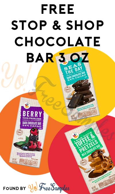 FREE Stop & Shop Chocolate Bar 3 oz At Stop & Shop (Account Required)