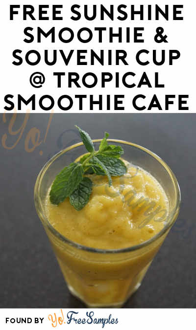 TODAY: FREE Sunshine Smoothie At Tropical Smoothie Cafe For Wearing Flip Flops June 15th