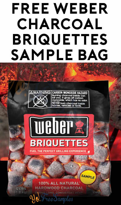 Back Again! FREE Weber Charcoal Briquettes Sample Bag [Verified Received By Mail]
