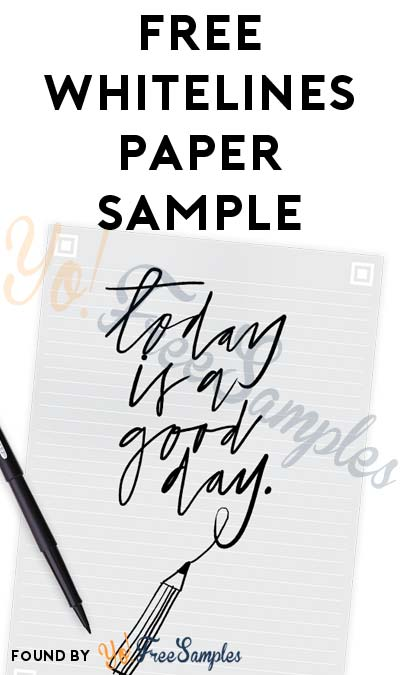 FREE Whitelines Scannable Paper Sample [Verified Received By Mail]