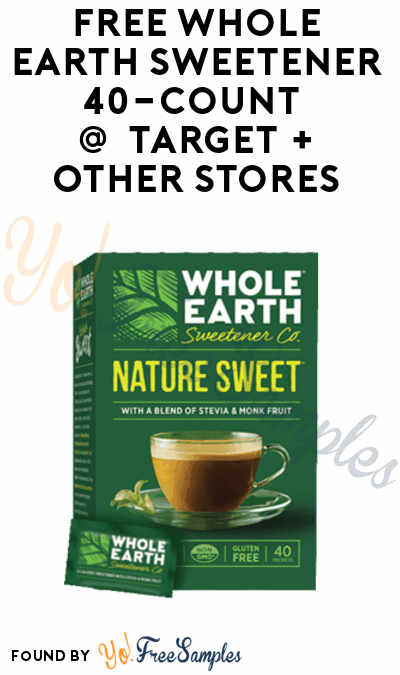 FREE Whole Earth Sweetener 40-Count At Target + Other Stores (Coupon & Ibotta Required)