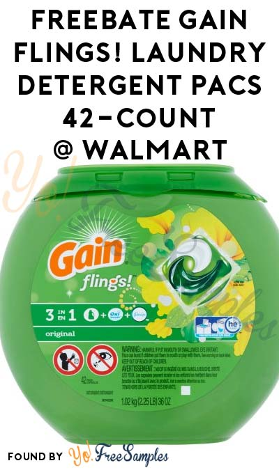 FREEBATE Gain flings! Laundry Detergent Pacs 42-Count At Walmart After In-Store Pick Up & Cashback (New TopCashBack Members Only)
