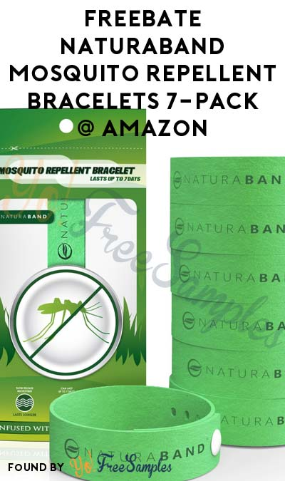 Codes Go Fast! FREEBATE Naturaband Mosquito Repellent Bracelets 7-Pack On Amazon (Facebook & Prime Required)