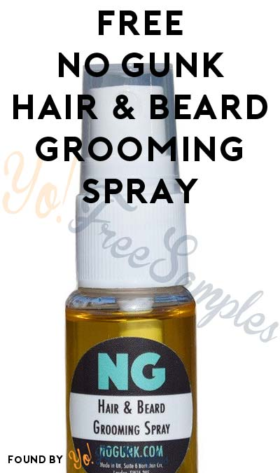 FREE No Gunk Hair & Beard Grooming Spray (Email Confirmation Required)