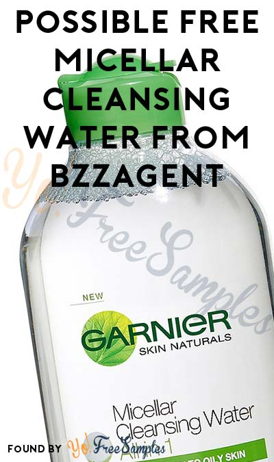 Possible FREE Micellar Cleansing Water From BzzAgent