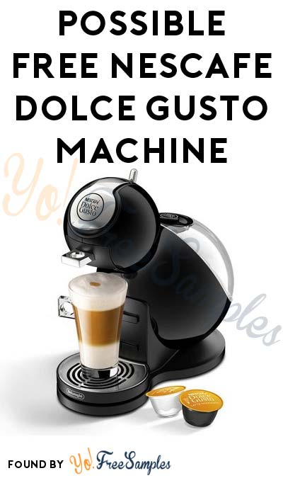 Possible FREE NESCAFE Dolce Gusto Machine From CrowdTap (Mission Required)