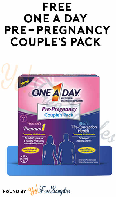 Possible FREE One A Day Pre-Pregnancy Couple's Pack (Smiley360)