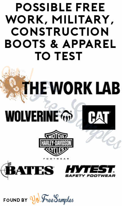 Possible FREE Work, Military, Construction Boots & Apparel To Test (Survey Required + Must Apply)