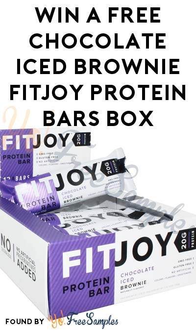 TODAY ONLY: Win A FREE Chocolate Iced Brownie FitJoy Protein Bars Box