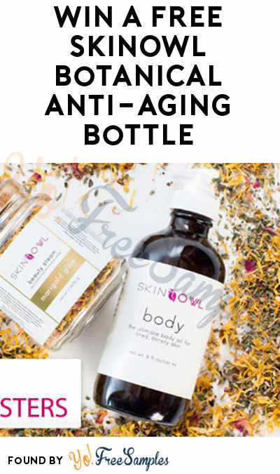 Win A FREE SkinOwl Botanical Anti-Aging Bottle