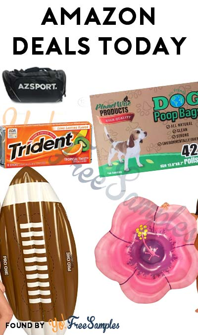 DEALS ALERT: Gym Bag, Dog Poop Bags, Inflatable Pool Floats & More Deep Discounts For Amazon.com 4/8/2017