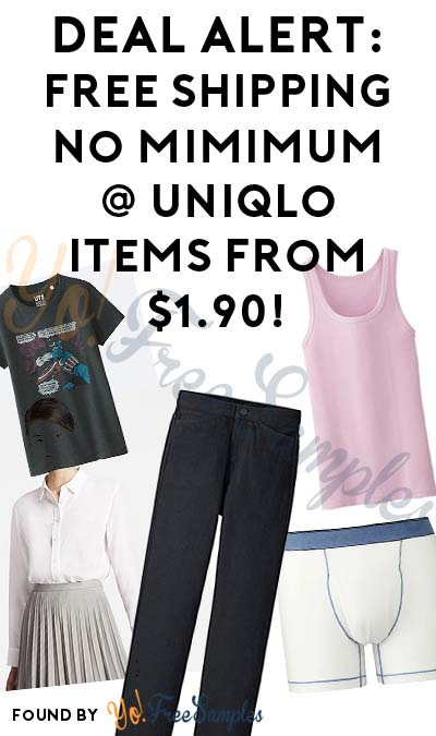 WEEKEND DEAL ALERT: FREE Shipping No Minimum @ Uniqlo With Items Starting At $1.90