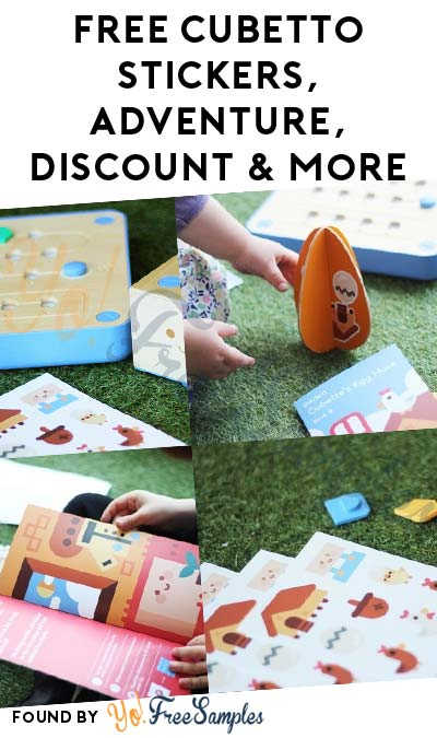 FREE Stickers, Holiday Activity Book, Personalized Adventure Book & 40% Off Cubetto Playset For Referring Friends