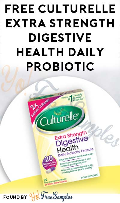 FREE Culturelle Extra Strength Digestive Health Daily Probiotic