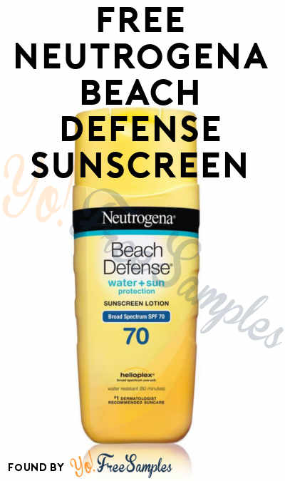 FREE Neutrogena Beach Defense Sunscreen From Home Tester Club (Survey Required)