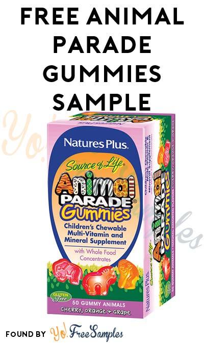 FREE Animal Parade Gummies Sample