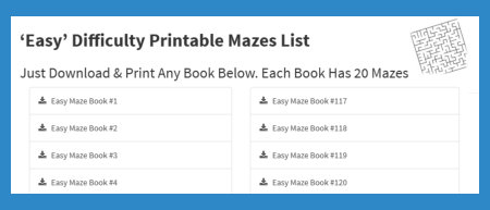 Free Printable Maze Puzzles to Download